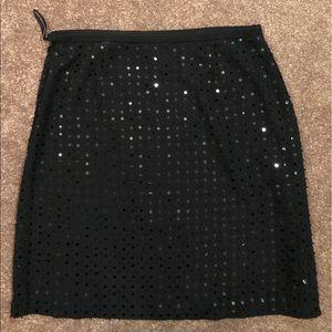 Black sparkly mini skirt size 6